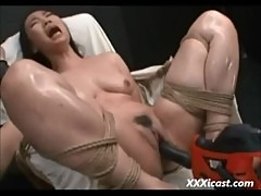 Asian Made To Orgasm With Power Tools