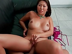 Hot Asian wife gets brutally pumped