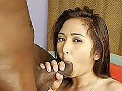 Stacked Asian Hottie Craves Negro Cock